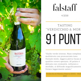 Verdicchio&More: 91 points for the Materga 2015 at the Falstaff tasting