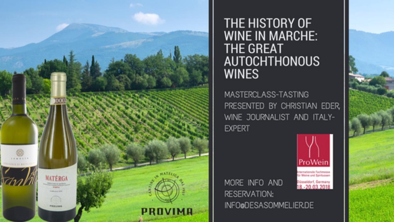 Prowein 2018 – A special masterclass tasting of Verdicchio di Matelica by Christian Eder