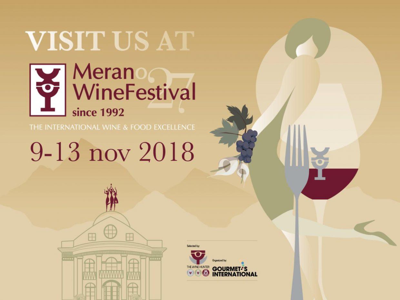Merano wine Festival 2018: come and visit us