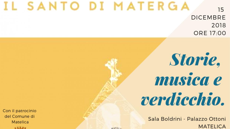 """(Italiano) Storie, musica e verdicchio. Presentazione del libro """"Il santo di Materga"""" di Piermassimo Paloni."""