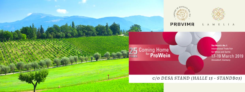 Prowein 2019 – I nostri vini in Germania
