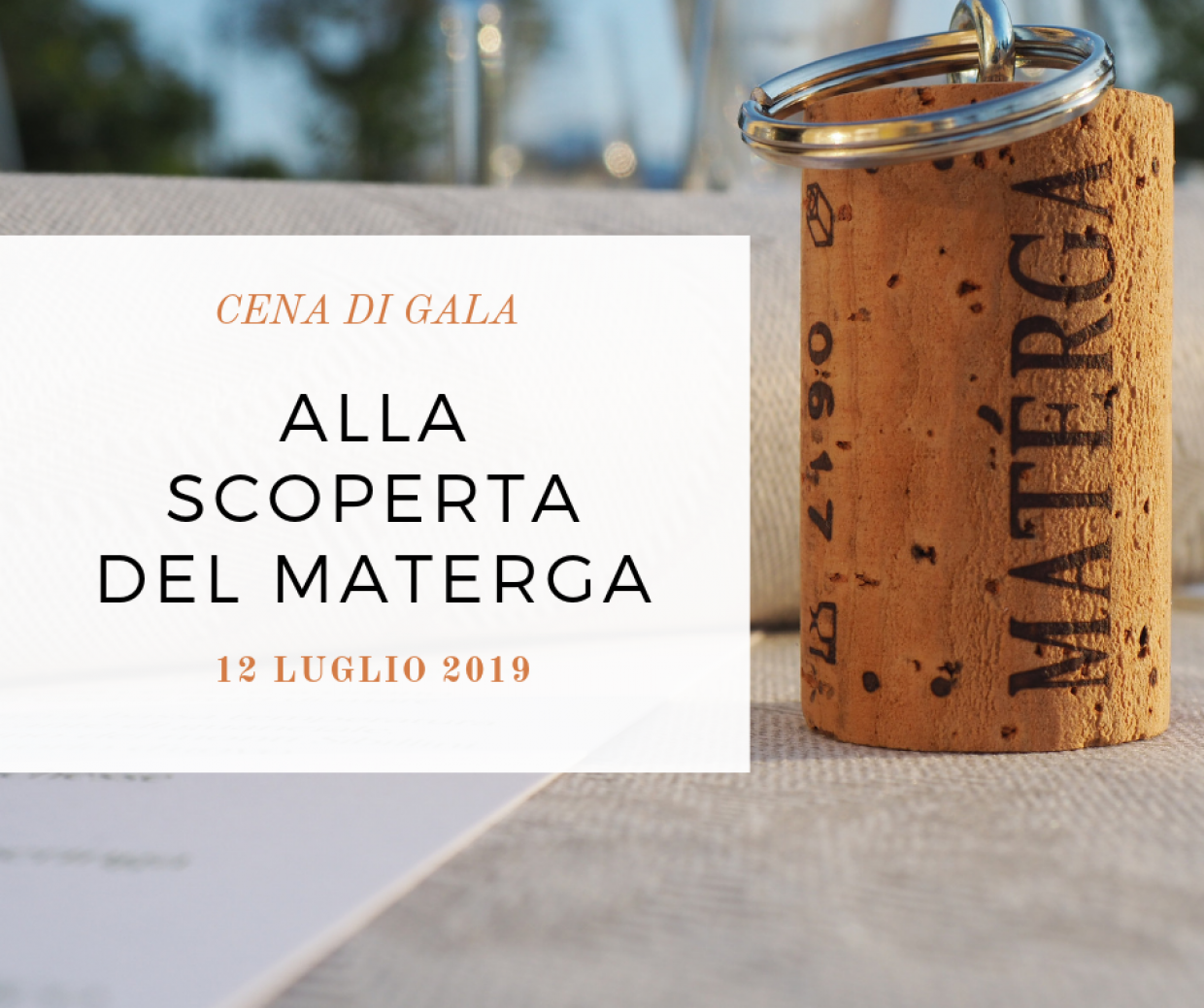 DIscovering the Materga: gala dinner at the winery